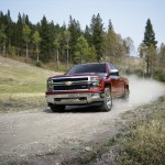2014 Chevrolet Silverado LTZ Driving on Dusty Road