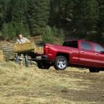 2014 Chevrolet Silverado LTZ Loading Hay Bails