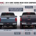 2014 GMC Sierra Rear View Comparison 009B