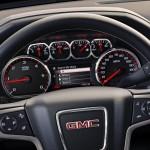2014 GMC Sierra SLT interior steering wheel IP detail 027