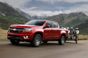 2015 Chevy Colorado Z71 Towing Two Dirtbikes