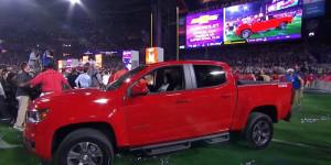 Tom Brady Super Bowl MVP wins 2015 Chevy Colorado Z71